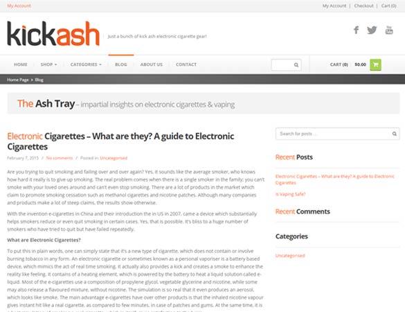 Kick Ash blog page