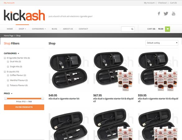 Kick Ash shop page