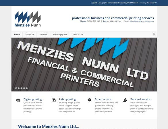 Menzies Nunn homepage
