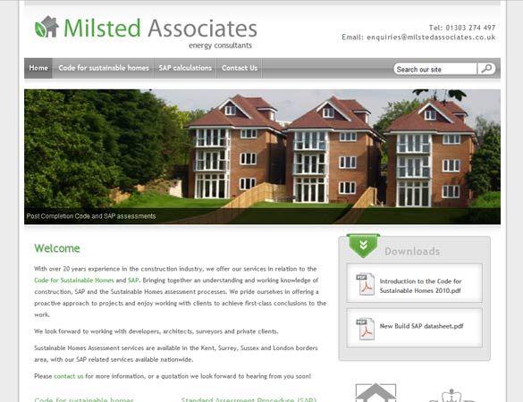 Milsted Associates homepage