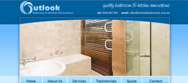 Outlook Bathroom & Kitchen Renovations web design thumb