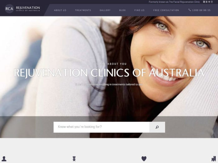 Rejuvenation Clinics of Australia Website