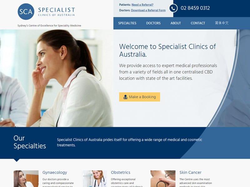 Specialist Clinics of Australia website