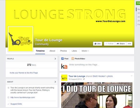 Tour de Lounge Facebook page